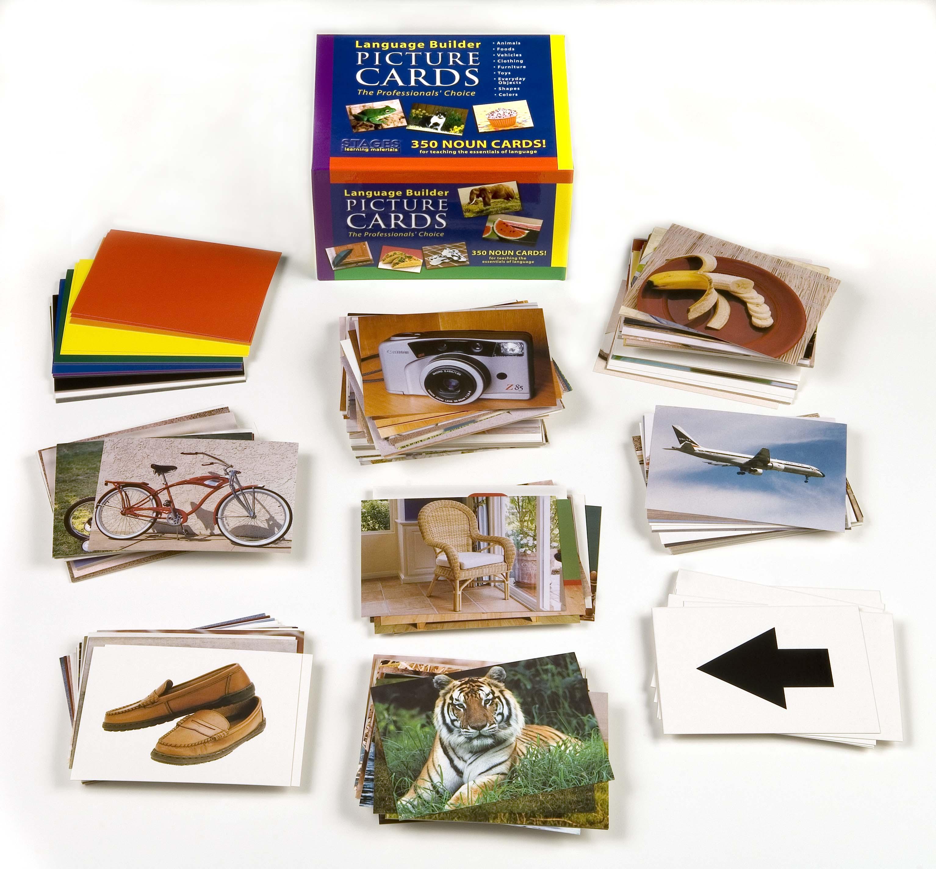 Language Builder Picture Cards for Autism Education