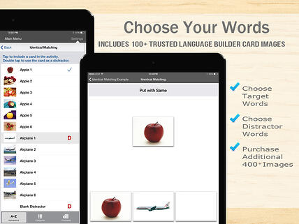 Choose from 600+ words in the Language Builder App